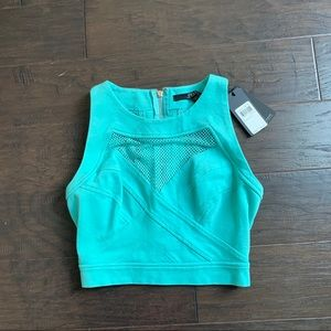 (NWT) GUESS // Sporty Mesh Crop Top